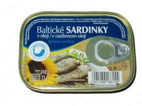 Sardinky Baltické v oleji 110g