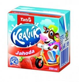 Mléko trvanlivé ochucené Kravík 250 ml