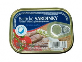 Sardinky Baltické v tomatové omáčce 110g