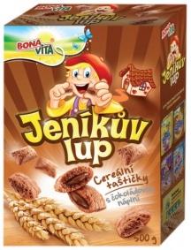 Cereálie polštářky s čokoládovou náplní Jeníkův lup 500g
