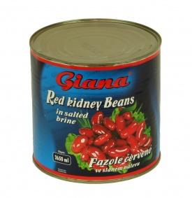 Fazole červené v nálevu 2,5 kg