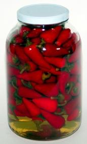 Feferony špičky červené S/4 1,6kg