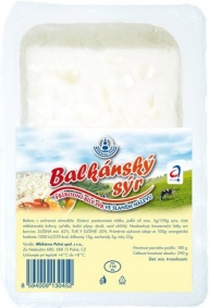 Sýr balkánský 1,25kg vanička