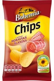 Chipsy Bohemia moravská slanina 77g