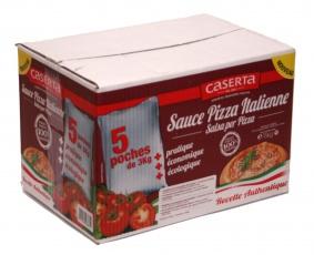 Drcená rajčata polpasauce plech 5/l