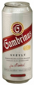 Pivo Gambrinus 10° 0.5lit.plech