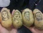 Karikatury členů týmu Refi-CZ na bramborech